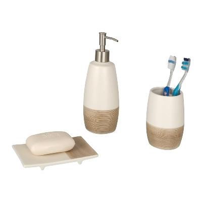 Bicchiere porta spazzolini nature in ceramica marca wenko - Wenko accessori bagno ...